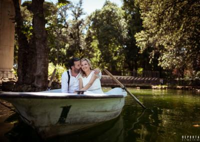Sposi Lago Villa Borghese Roma