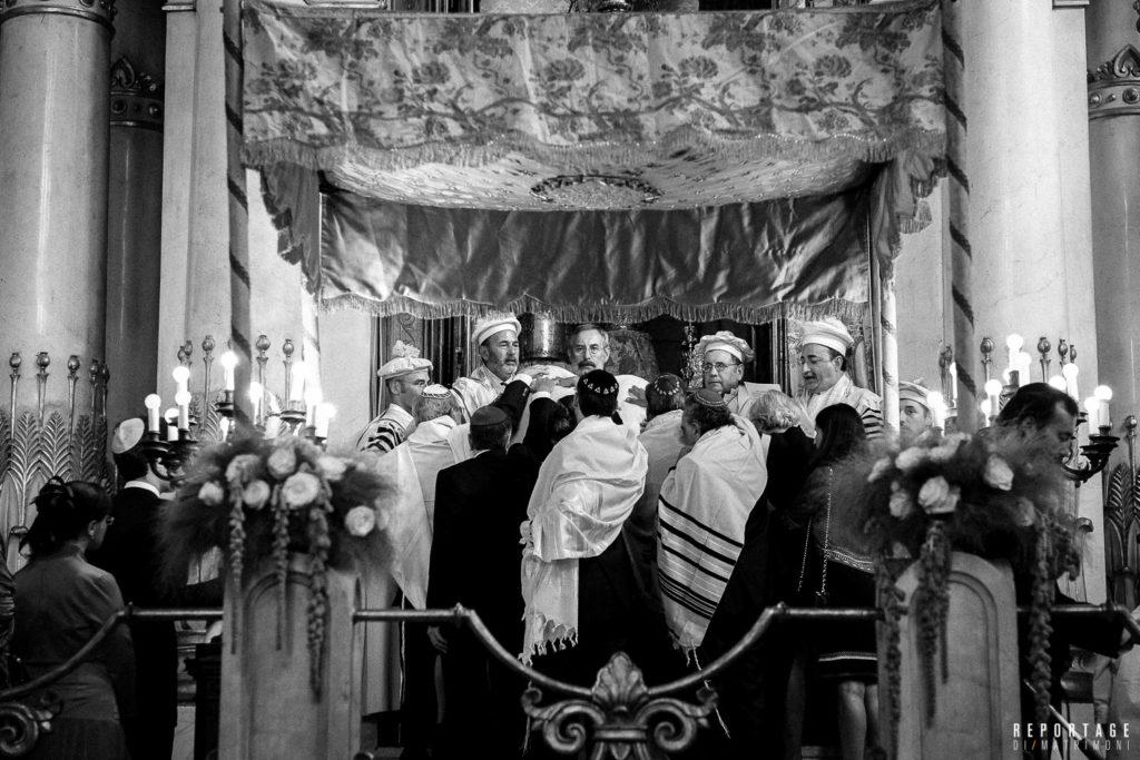 cerimonia sinagoga baldacchino