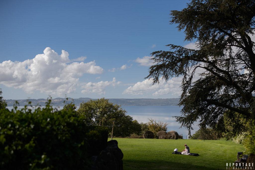Lago Bracciano - Vista da ricevimento matrimonio