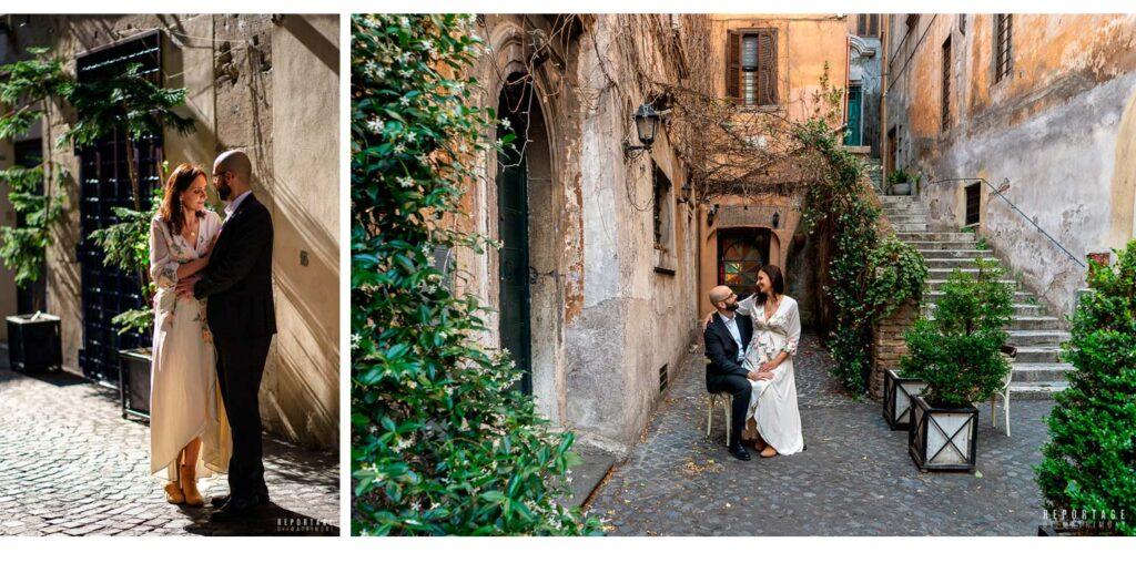 Foto matrimonio roma vicoli centro storico
