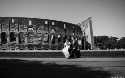 foto matrimonio Roma - Sposi Colosseo